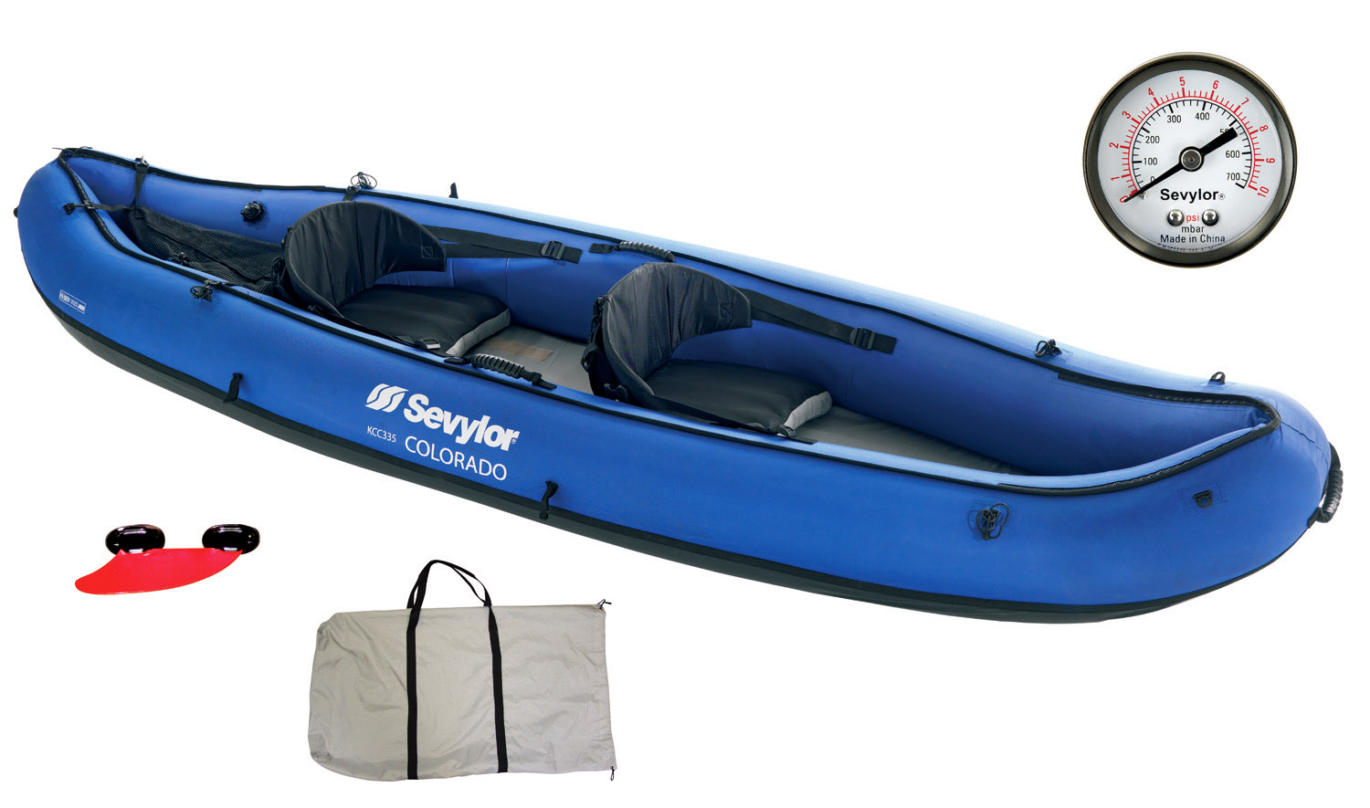 sevylor colorado 2 person inflatable kayak wild water. Black Bedroom Furniture Sets. Home Design Ideas